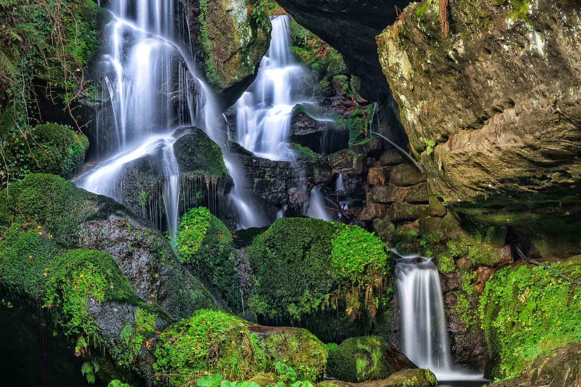 Wasserfall in Lichtenhain in Sachen / Deutschland