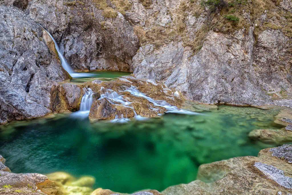Die Stuibenfälle bei Reutte in Tirol / Österreich