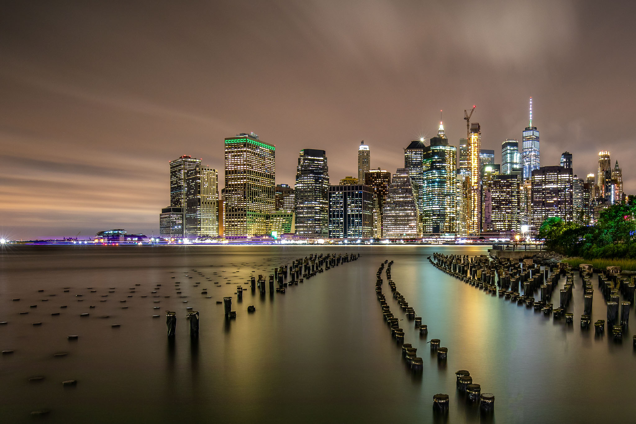 Brooklyn Pier 1 at night
