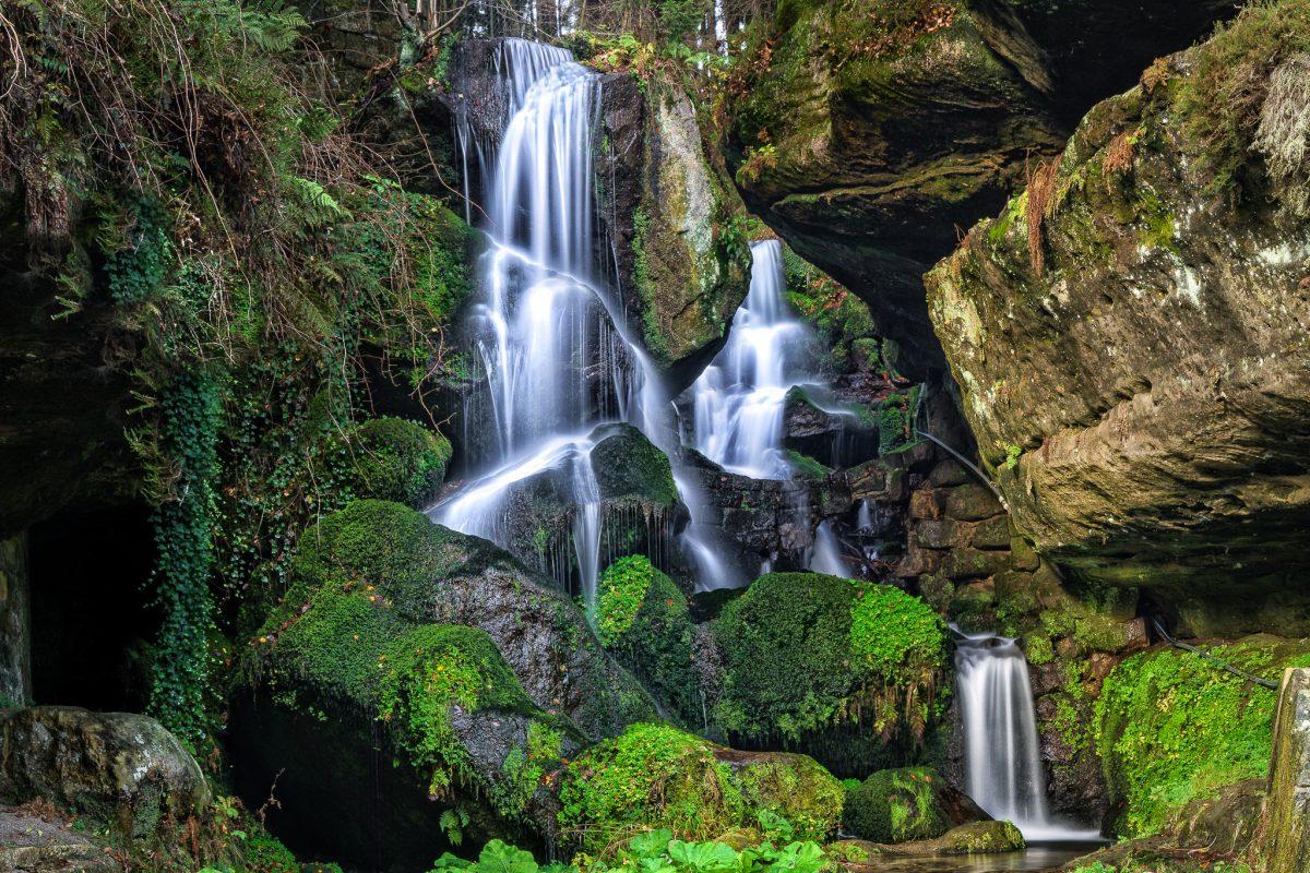 Lichtenhainer Wasserfall im Elbsandsteingebirge